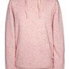 Break Down Hood Sweater - pink melange